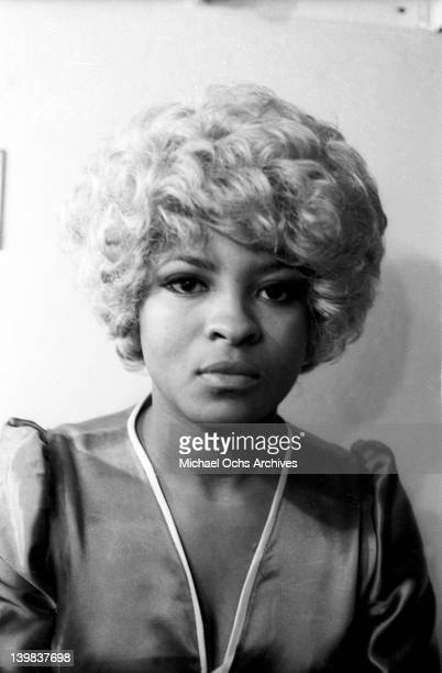 Rose Stone of the psychedelic soul group 'Sly And The Family Stone' poses for a portrait session in 1968 in New York New York