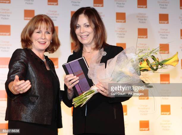 Rose Tremain gets an introduction from the chair of the judging panel Kirsty Lang before being told she has won the 2008 Orange Prize for Fiction at...
