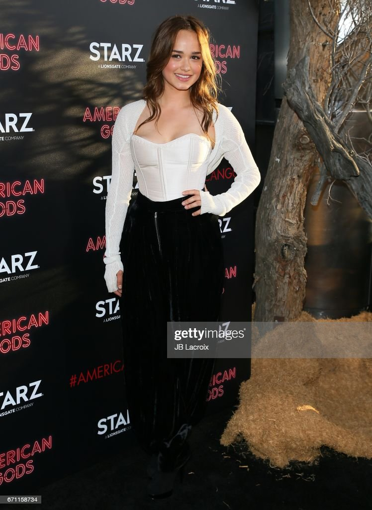 Rose Williams attends the premiere Of Starz's 'American Gods' on April 20, 2017 in Hollywood, California.