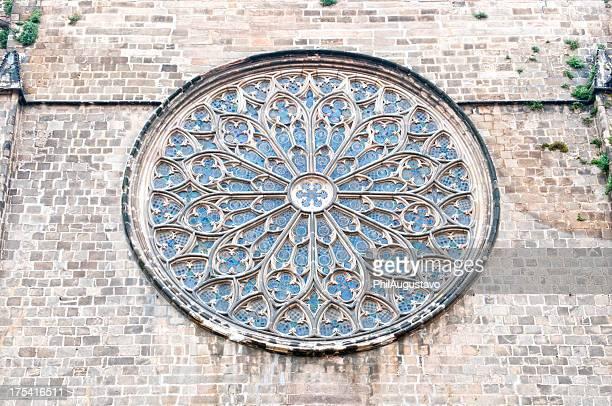Rosace de l'époque médiévale de la cathédrale
