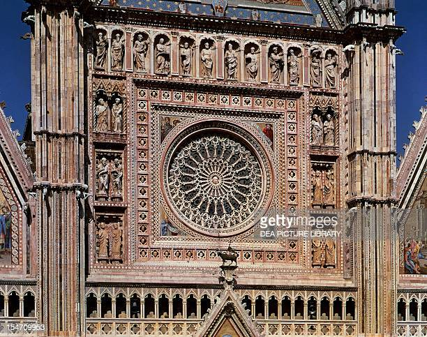 Rose window of the Cathedral of Orvieto work by Andrea di Cione known as Orcagna Italy 14th century
