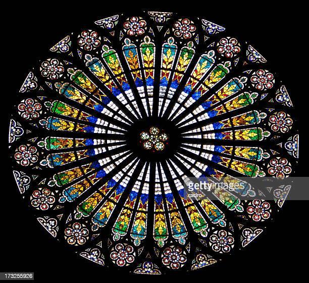 Rosace, la cathédrale de Strasbourg, France