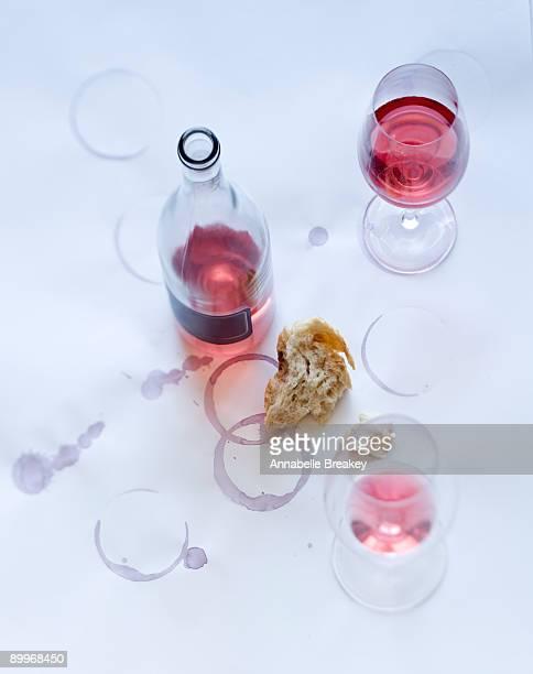 rose wine still life