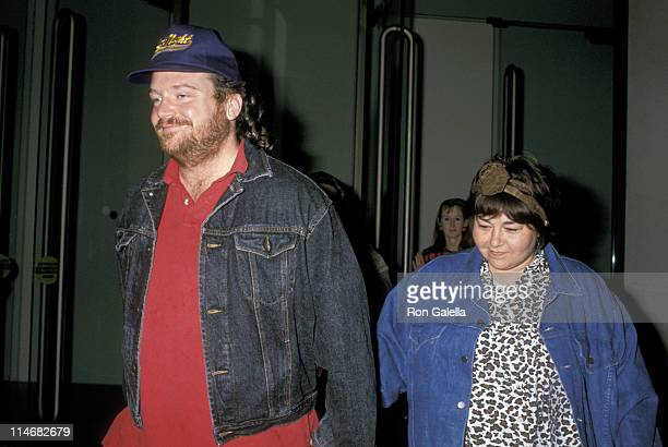 Roseanne and Tom Arnold during Roseanne and Tom Arnold Sighting at The Beverly Hilton in Beverly Hills January 14 1990 at The Beverly Hitlon in...