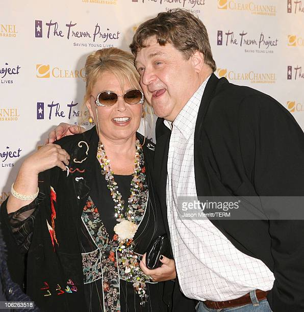 Roseanne Barr and John Goodman during The Trevor Project's Cracked Xmas 9 Arrivals at The Wiltern LG in Hollywood California United States