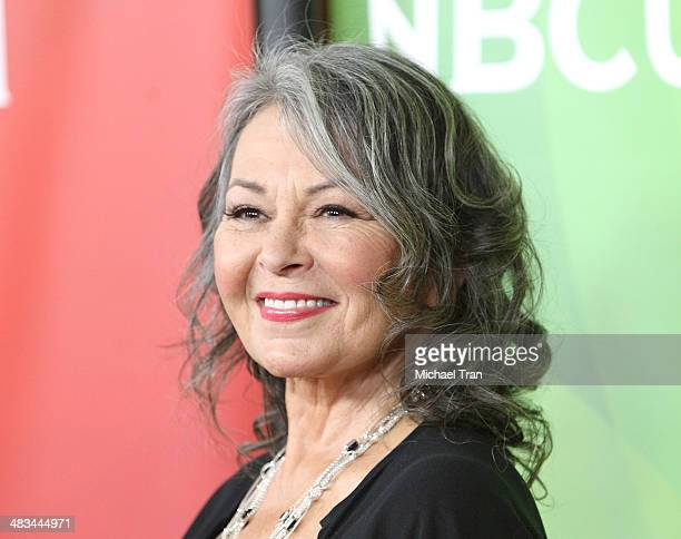Roseanne Barr arrives at the NBCUniversal's 2014 Summer Press Day held at Langham Hotel on April 8 2014 in Pasadena California