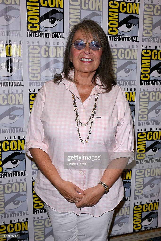 <a gi-track='captionPersonalityLinkClicked' href=/galleries/search?phrase=Roseanne+Barr&family=editorial&specificpeople=228388 ng-click='$event.stopPropagation()'>Roseanne Barr</a> attends the Comedy Legends of TV Land press line Comic Con International 2013 at the Hilton San Diego Bayfront Hotel on July 18, 2013 in San Diego, California.