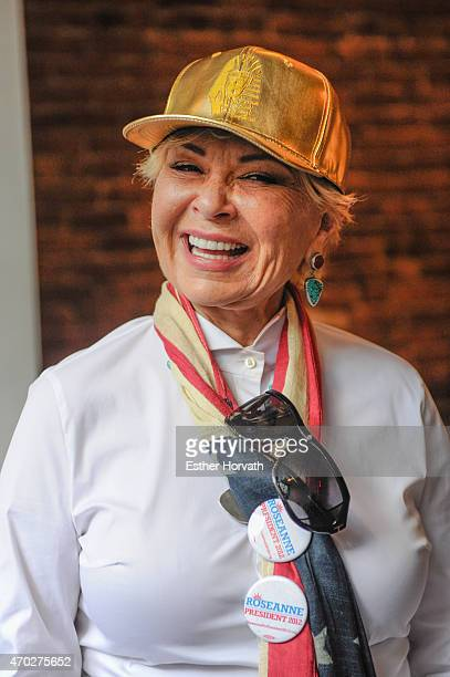 Roseanne Barr attends the world premiere documentary 'Roseanne For President' after party during the 2015 Tribeca Film Festival at 287 Gallery on...