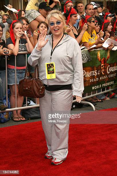 Roseanne Barr during 'Pirates of the Caribbean Dead Man's Chest' Los Angeles Premiere Arrivals at Main Street USA Disneyland in Anaheim California...