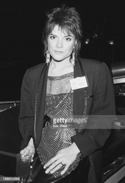 Roseanne Cash backstage at Park West Chicago Illinois November 17 1982