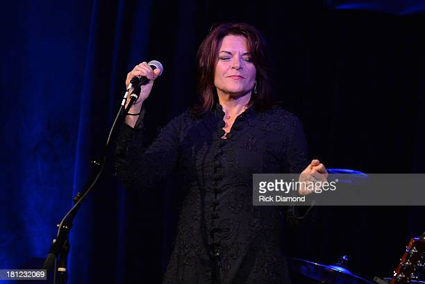 Roseanne Cash performs at 3rd Lindsley as part of the 14th Annual Americana Music Festival Conference Festival Day 2 on September 19 2013 in...