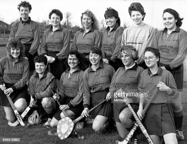Roseberry Ladies hockey team have some silver wear to mark their 21st Annoversary after winning the Persimmon Homes League Rally at Malton Back Row...