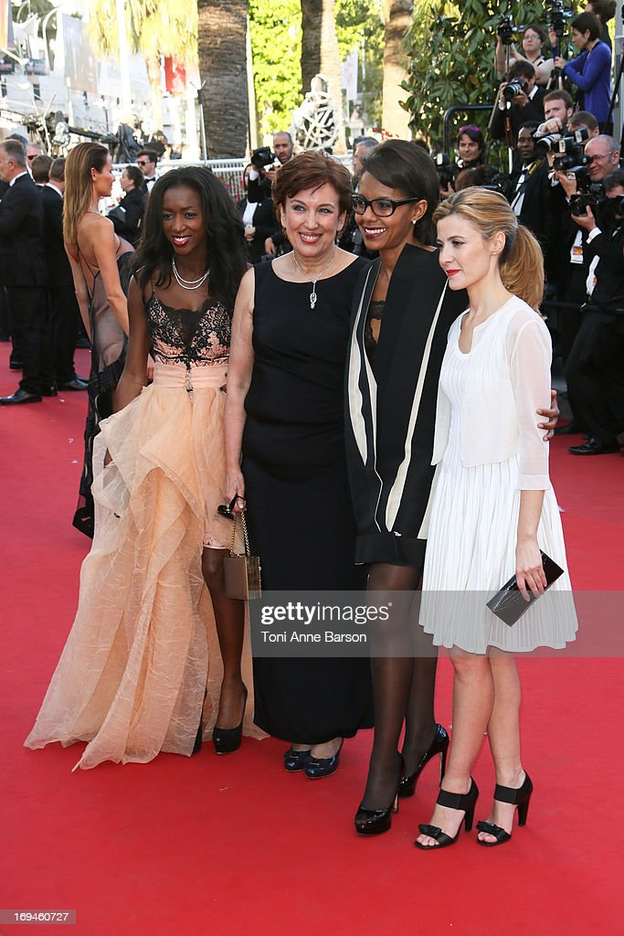 Roseline Bachelot and Audrey Pulvar attend the premiere of 'The Immigrant' at The 66th Annual Cannes Film Festival on May 24, 2013 in Cannes, France.