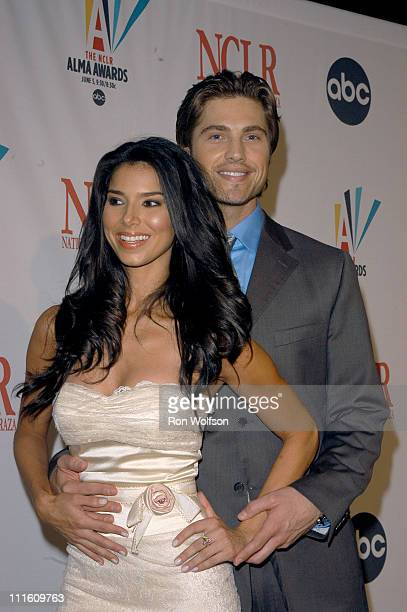 Roselyn Sanchez and Eric Winter during 2006 NCLR ALMA Awards Red Carpet at Shrine Auditorium in Los Angeles California United States