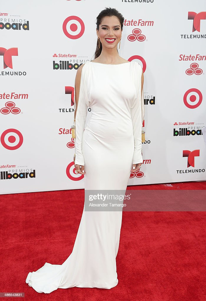 <a gi-track='captionPersonalityLinkClicked' href=/galleries/search?phrase=Roselyn+Sanchez&family=editorial&specificpeople=202260 ng-click='$event.stopPropagation()'>Roselyn Sanchez</a> arrives at the 2014 Billboard Latin Music Awards at Bank United Center on April 24, 2014 in Miami, Florida.