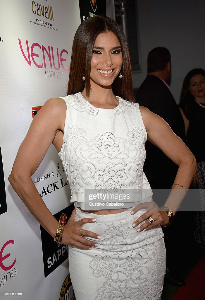 <a gi-track='captionPersonalityLinkClicked' href=/galleries/search?phrase=Roselyn+Sanchez&family=editorial&specificpeople=202260 ng-click='$event.stopPropagation()'>Roselyn Sanchez</a> arrives for Venue Magazine July/August Cover Party at Cavalli Miami on July 16, 2014 in Miami Beach, Florida.