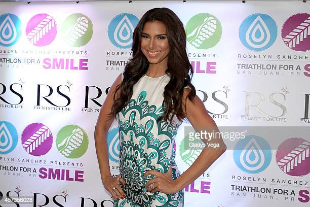Roselyn Sanchez attends Roselyn Sanchez Triathlon for a Smile VIP Cocktail Party at Caribe Hilton Hotel on October 16 2014 in San Juan Puerto Rico