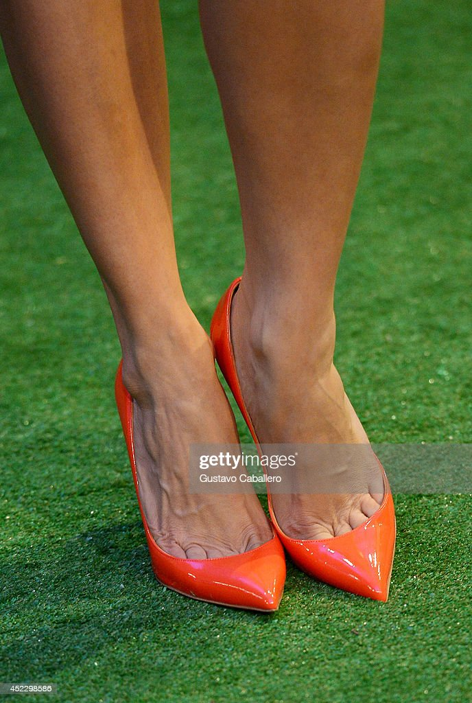 Roselyn Sanchez (shoe detail) attends the Premios Juventud 2014 at The BankUnited Center on July 17, 2014 in Coral Gables, Florida.