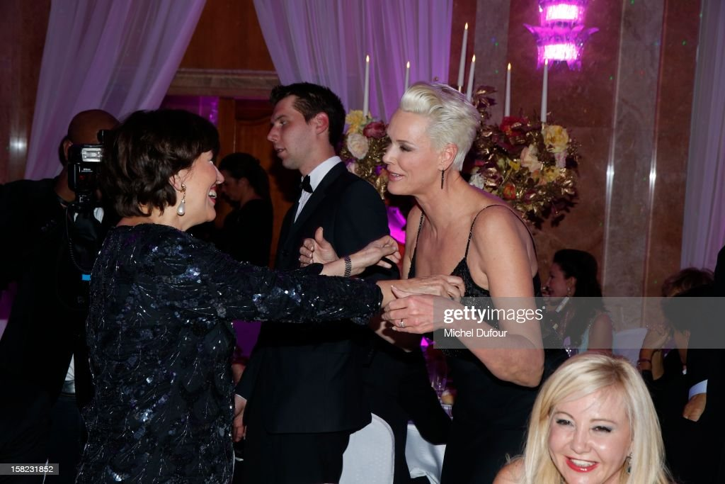 Roselyne Bachelot and Birgit Nielsen attend the The Bests Awards 2012 Ceremony at salons hoche on December 11, 2012 in Paris, France.