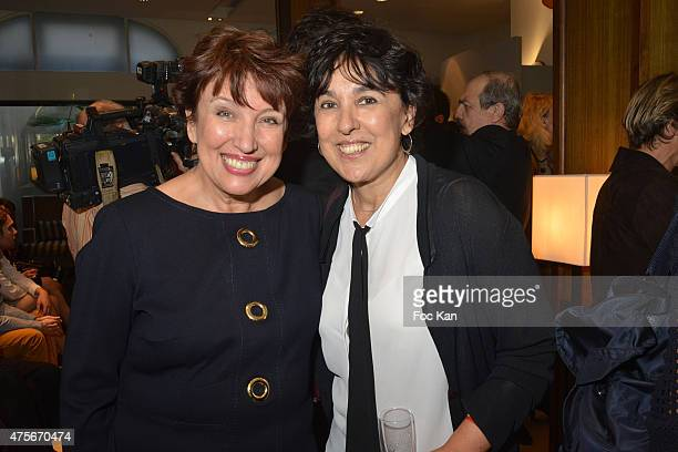 Roselyne Bachelot and Isabelle Alonso attend the Marie Claire Magazine Litterary Awards 2015 At le Montalembert on June 2 2015 in Paris France