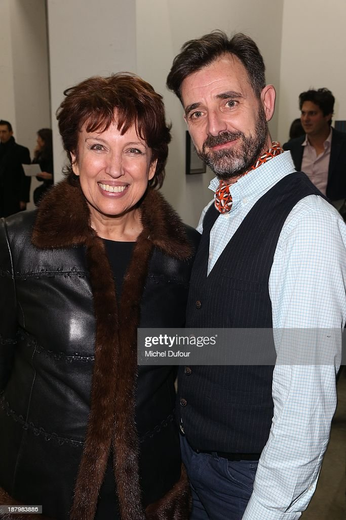 Roselyne Bachelot and Laurent Colsy attend Art Is Hope' Exhibition Preview In Benefit Of 'AIDS Association' At Palais De Tokyo at Palais De Tokyo on...