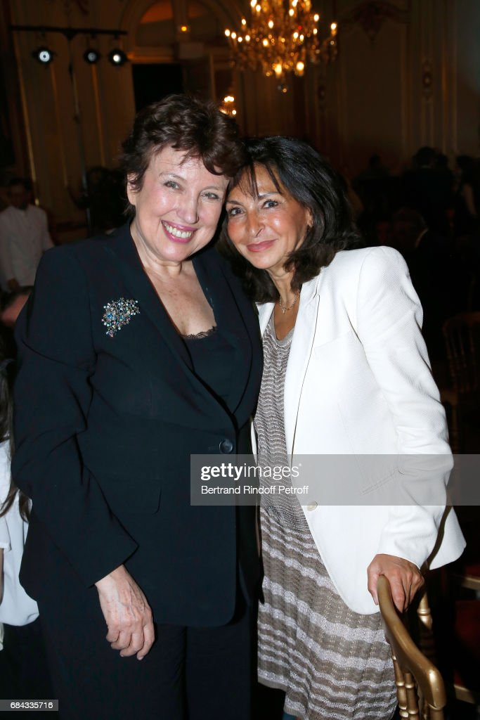 Roselyne Bachelot and Nicole Guedj attend the 'Vaincre Le Cancer' Gala - 30th Anniverary at Cercle de l'Union Interalliee on May 17, 2017 in Paris, France.