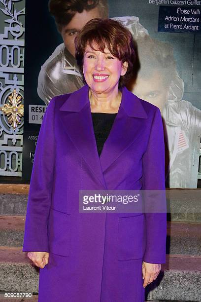 Roselyne Bachelot attends 'Big Bang' Premiere Theater Play at Theatre du Gymnase on February 8 2016 in Paris France