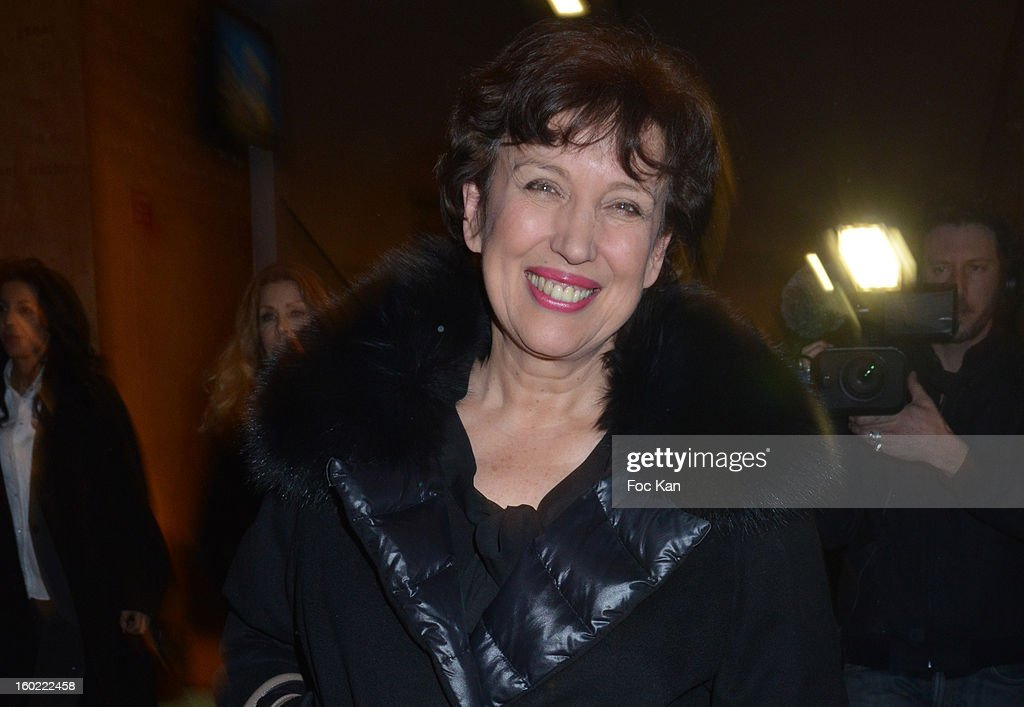 <a gi-track='captionPersonalityLinkClicked' href=/galleries/search?phrase=Roselyne+Bachelot&family=editorial&specificpeople=2369544 ng-click='$event.stopPropagation()'>Roselyne Bachelot</a> attends 'Mariage Pour Tous' at Theatre du Rond-Point on January 27, 2013 in Paris, France. .