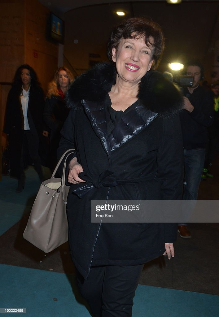 Roselyne Bachelot attends 'Mariage Pour Tous' at Theatre du Rond-Point on January 27, 2013 in Paris, France. .