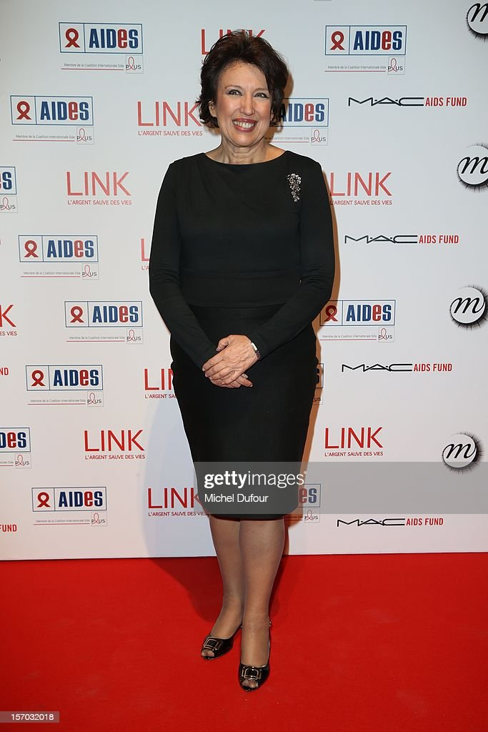 Roselyne Bachelot attends the AIDES International Gala Dinner at Grand Palais on November 27, 2012 in Paris, France.