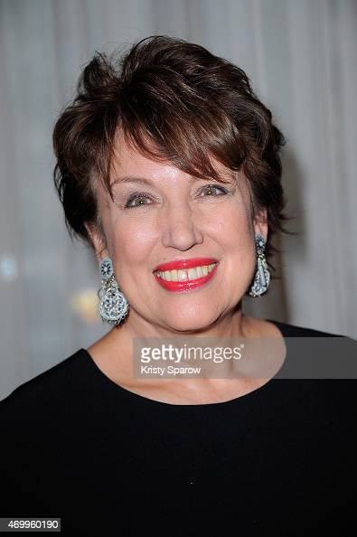 Roselyne Bachelot attends the 'Autistes Sans Frontiere' Charity Gala at Artcurial Dassault on April 16 2015 in Paris France