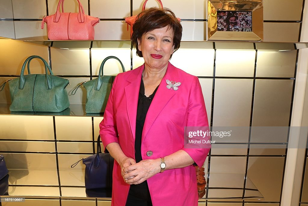 Roselyne Bachelot attends the 'D.D. Bag Collection' Launch Cocktail at Tods Shop on April 25, 2013 in Paris, France.