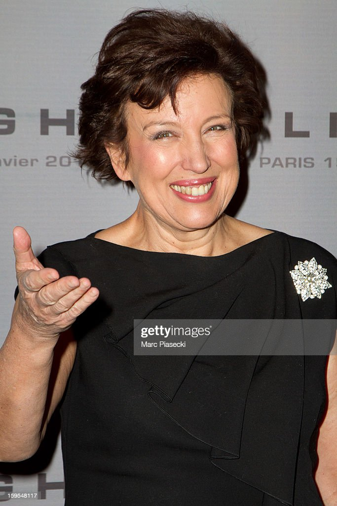 Roselyne Bachelot attends the 'Flight' Paris Premiere at Cinema Gaumont Marignan on January 15, 2013 in Paris, France.