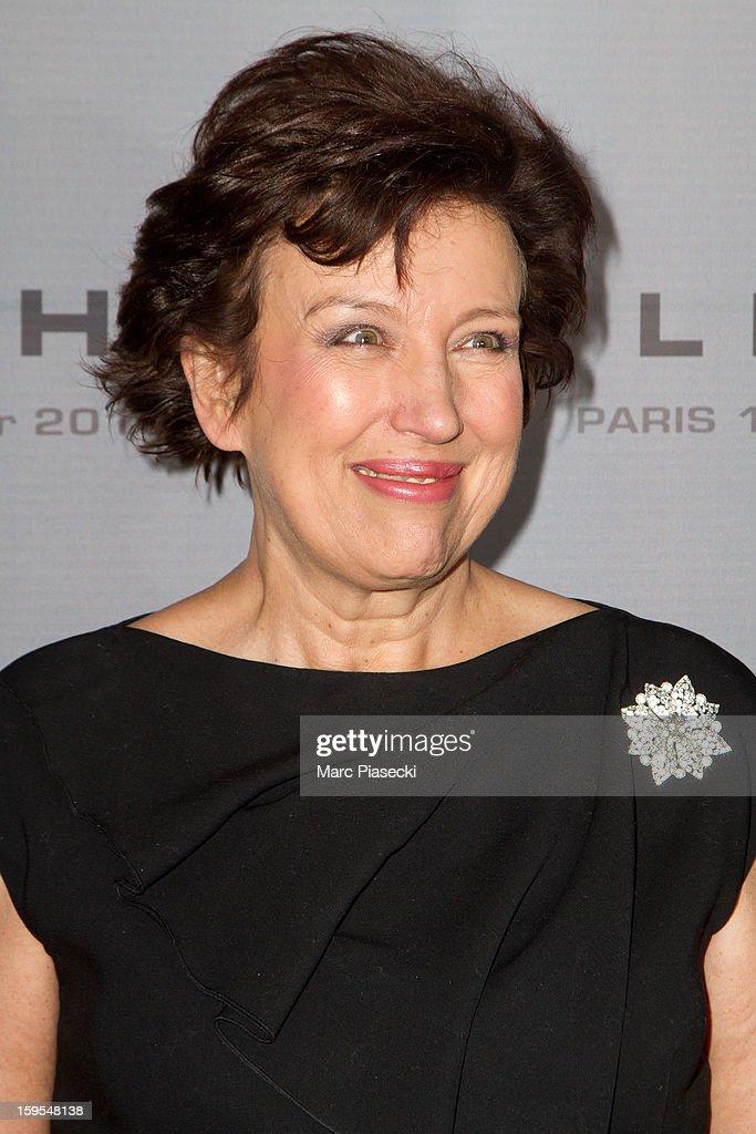Roselyne Bachelot attends the 'Flight' Paris Premiere at Cinema Gaumont Marignan on January 15, 2013 in Paris, France.
