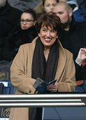Roselyne Bachelot attends the French Ligue 1 between Paris SaintGermain and SCO Angers at Parc Des Princes on january 23 2016 in Paris France