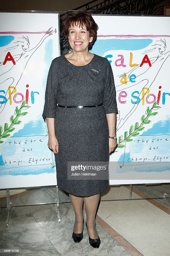 <a gi-track='captionPersonalityLinkClicked' href=/galleries/search?phrase=Roselyne+Bachelot&family=editorial&specificpeople=2369544 ng-click='$event.stopPropagation()'>Roselyne Bachelot</a> attends the 'Gala de l'Espoir' hosts by the Ligue Contre Le Cancer at Theatre des Champs-Elysees on November 19, 2013 in Paris, France.