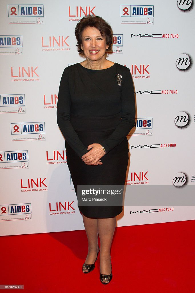 Roselyne Bachelot attends the LINK dinner for AIDS '100 photographes se mobilisent contre le Sida' at Grand Palais on November 27, 2012 in Paris, France.