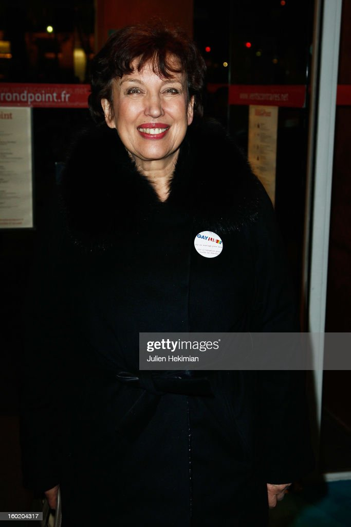 Roselyne Bachelot attends the 'Mariage Pour Tous' (wedding for all) Party event at Theatre du Rond-Point on January 27, 2013 in Paris, France.