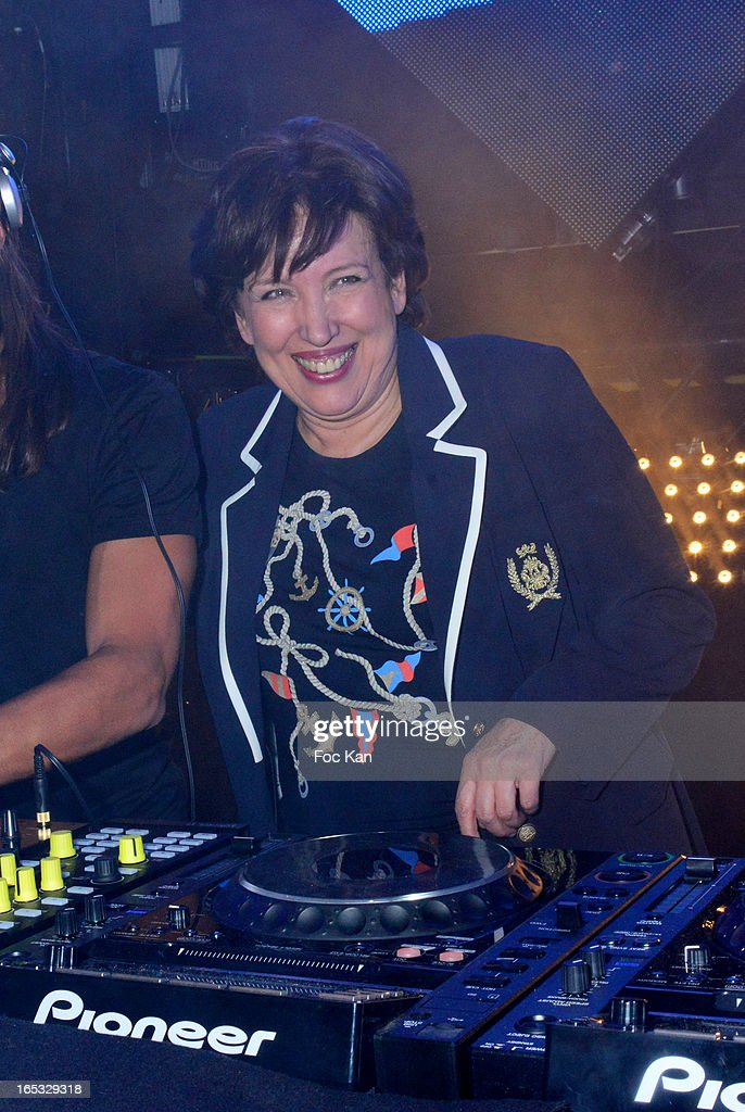<a gi-track='captionPersonalityLinkClicked' href=/galleries/search?phrase=Roselyne+Bachelot&family=editorial&specificpeople=2369544 ng-click='$event.stopPropagation()'>Roselyne Bachelot</a> attends the 'Paris By Night' Bob Sinclar CD Launch Concert Party At La Gaite Lyrique on April 2, 2013 in Paris, France.