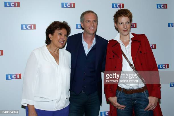 Roselyne Bachelot Julien Arnaud and Natacha Polony attend the LCI Press Conference to Announce Their TV Schedule for 2017/2018 on August 30 2017 in...
