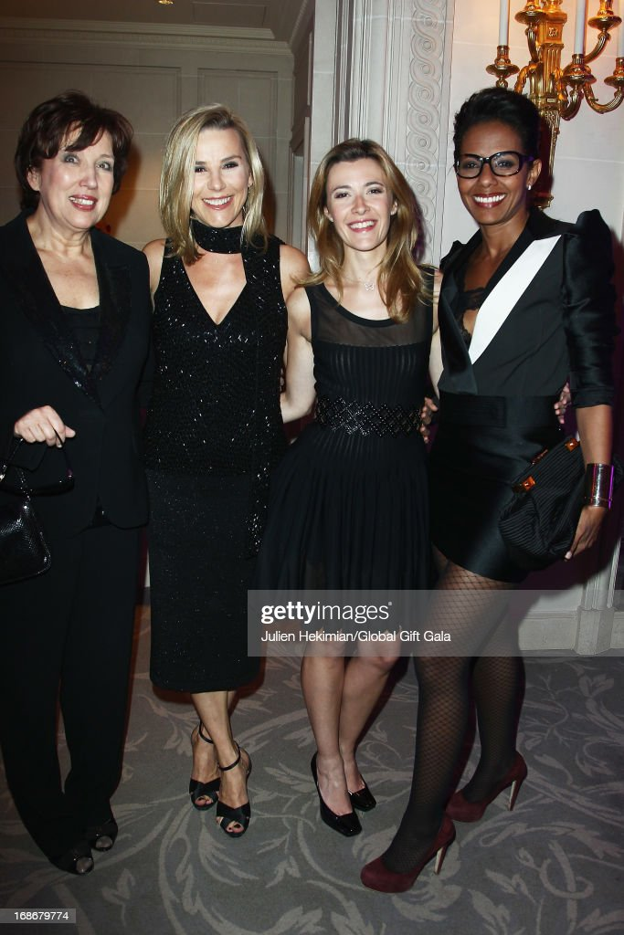 Roselyne Bachelot, Laurence Ferrari, Elisabeth Bost and Audrey Pulvar attend the 'Global Gift Gala' at Hotel George V on May 13, 2013 in Paris, France.
