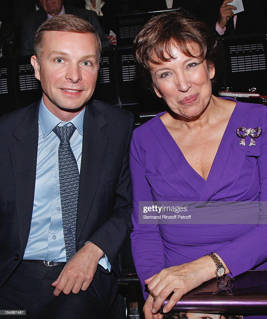 <a gi-track='captionPersonalityLinkClicked' href=/galleries/search?phrase=Roselyne+Bachelot&family=editorial&specificpeople=2369544 ng-click='$event.stopPropagation()'>Roselyne Bachelot</a> Narquin (R) and Yann Bubien attend AROP Gala Dinner on October 18, 2012 in Paris, France.