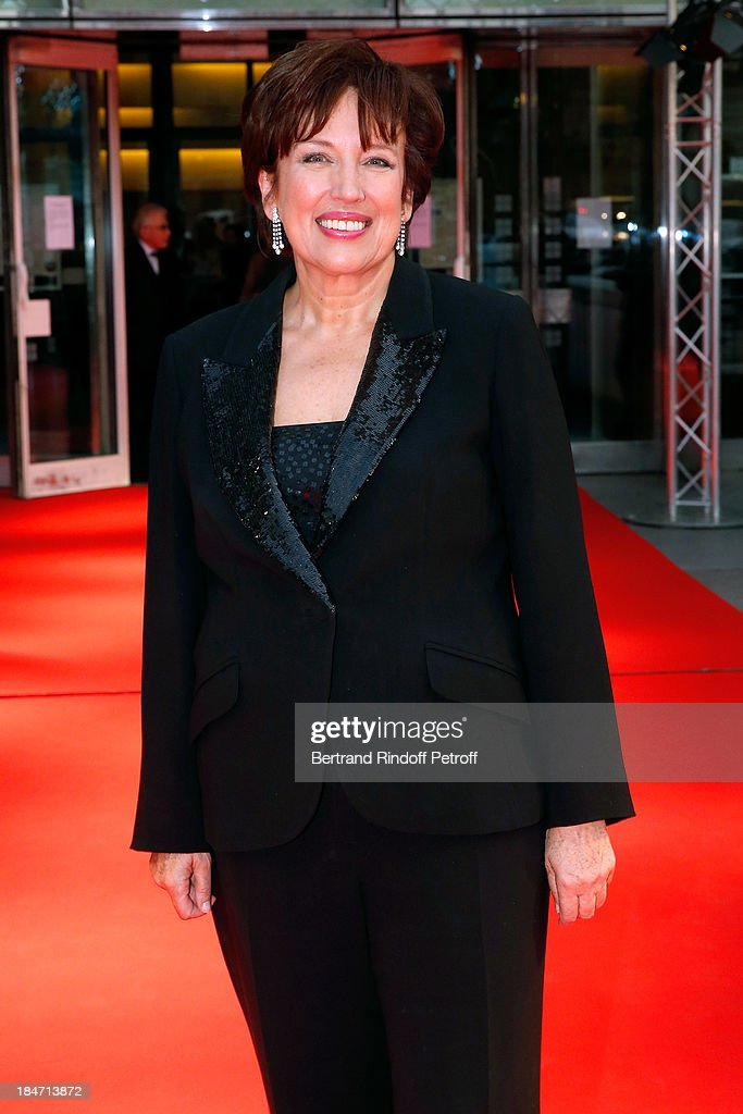 <a gi-track='captionPersonalityLinkClicked' href=/galleries/search?phrase=Roselyne+Bachelot&family=editorial&specificpeople=2369544 ng-click='$event.stopPropagation()'>Roselyne Bachelot</a> Narquin attends AROP Gala at Opera Bastille with a representation of 'Aida' on October 15, 2013 in Paris, France.