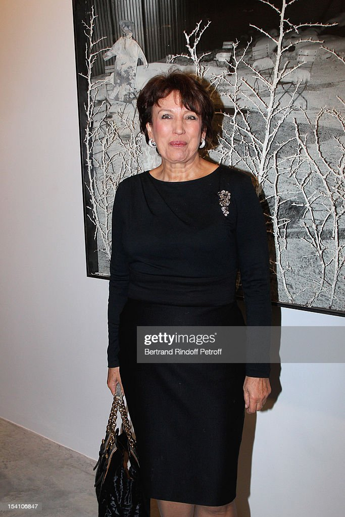 Roselyne Bachelot Narquin attends the opening of Thaddaeus Ropac's new gallery on October 13, 2012 in Pantin, France.