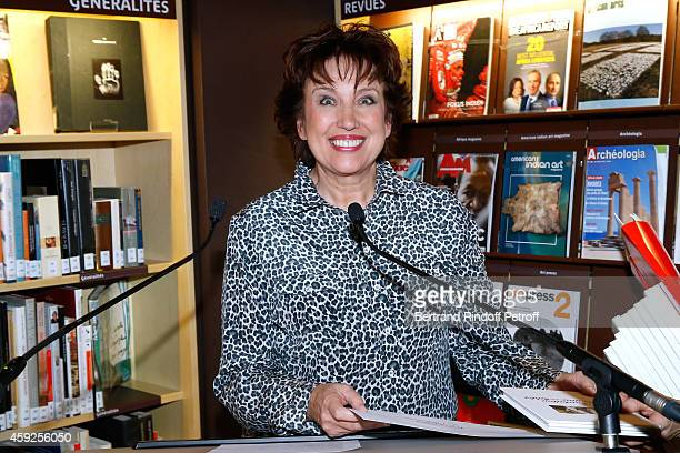 Roselyne Bachelot Narquin attends the Presentation of 'Martine Aublet Foundation' Grants 2014 Held at Musee du Quai Branly on November 19 2014 in...
