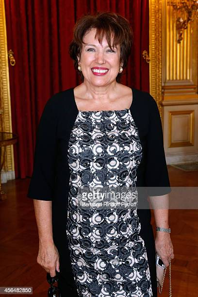 Roselyne Bachelot Narquin attends Xavier Darcos receives 'L'Epee d'Academicien' in Paris on October 1 2014 in Paris France
