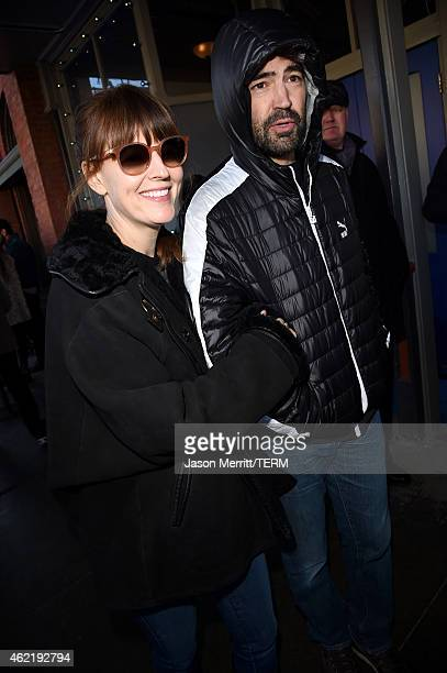 Rosemarie DeWitt and Ron Livingston are seen on January 25 2015 in Park City Utah