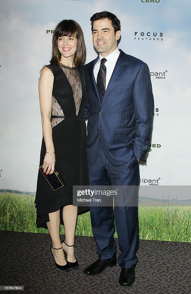 Rosemarie Dewitt and Ron Livingston arrive at the Los Angeles premiere of 'Promised Land' held at Directors Guild Of America on December 6, 2012 in Los Angeles, California.