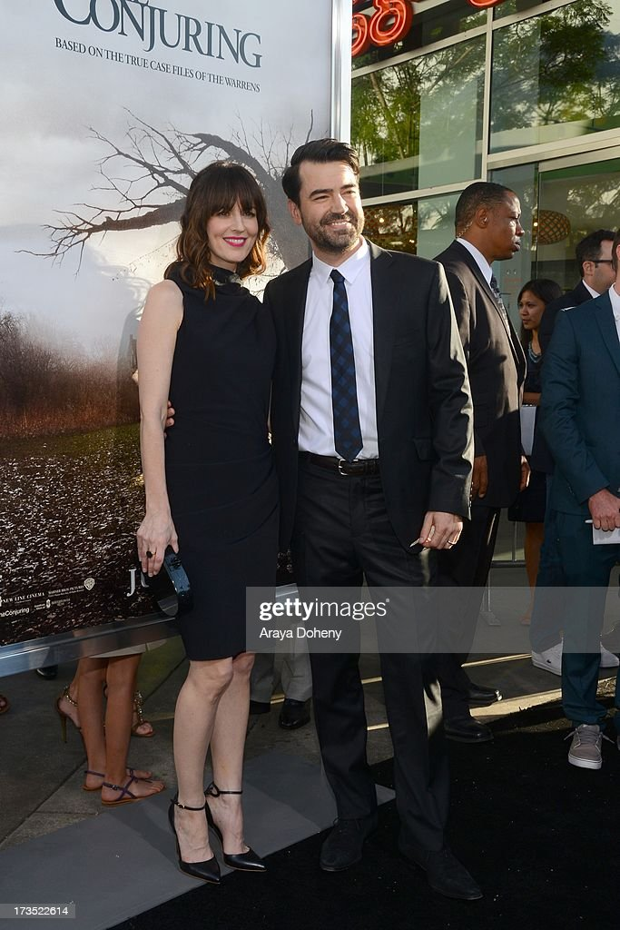 Rosemarie DeWitt and Ron Livingston attend the premiere of Warner Bros. 'The Conjuring' at ArcLight Cinemas Cinerama Dome on July 15, 2013 in Hollywood, California.
