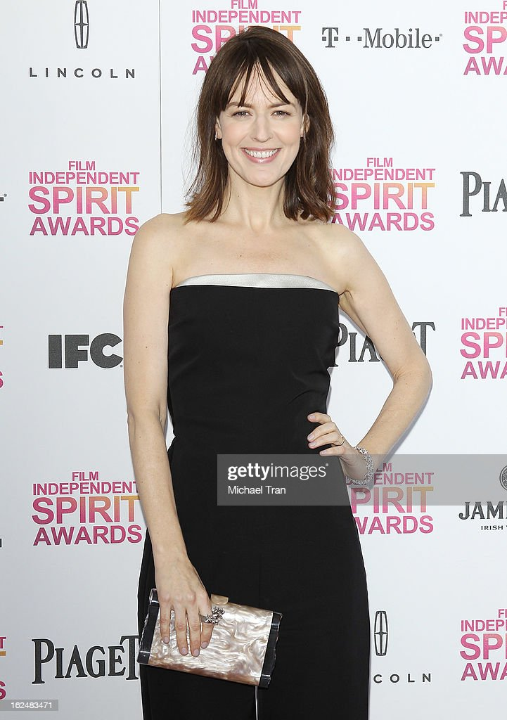 Rosemarie DeWitt arrives at the 2013 Film Independent Spirit Awards held on February 23, 2013 in Santa Monica, California.